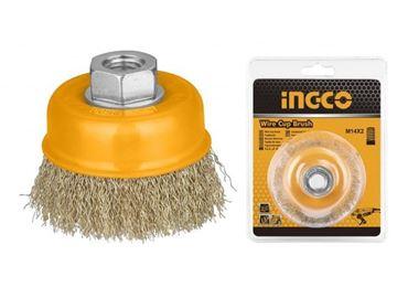 Imagen de Cepillo copa amoladora 75mm Ingco - Ynter Industrial