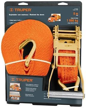 Imagen de Cinta catraca Truper 9mt x 7.62cm x 5.400kg - Ynter Industrial