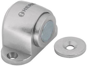 Imagen de Tope de piso magnético cromado Hermex -Ynter Industrial