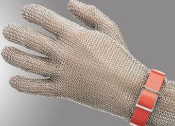 Imagen de Guante corto de malla de acero inoxidable p/frigorífico-Ynter Industrial