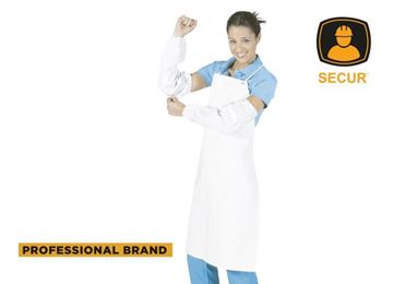 Imagen de Delantal de PVC blanco 90 x 120cm x 0.60mm de espesor Secur - Ynter Industrial