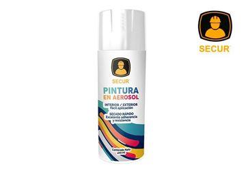 Imagen de Pintura en aerosol blanco brillante 400 ml Secur - Ynter Industrial