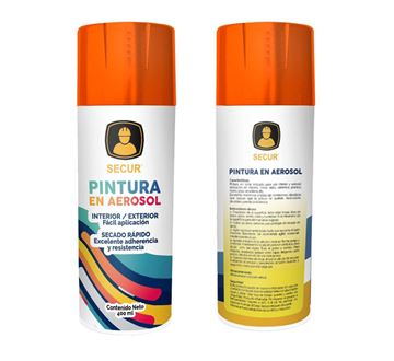 Imagen de Pintura en aerosol naranja rojizo 400 ml Secur - Ynter Industrial