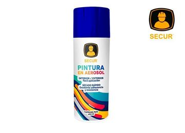 Imagen de Pintura en aerosol azul 400 ml Secur - Ynter Industrial