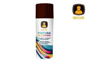 Imagen de Pintura en aerosol marrón 400 ml Secur - Ynter Industrial