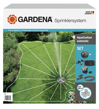 Imagen de Kit completo c/aspersor emergente p/ sup. asimétricas AquaContour automatic Gardena - Ynter Industrial