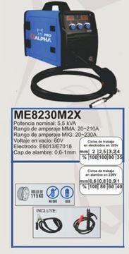 Imagen de Soldadora Alpha Pro inverter MIG elect 20-230A - Ynter Industrial