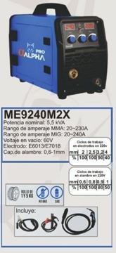 Imagen de Soldadora Alpha Pro inverter electrodo 20-240A-Ynter Industrial
