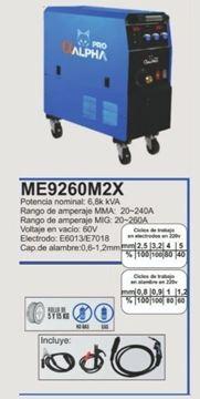 Imagen de Soldadora ALPHA-PRO  inverter mig elect 20-260A - Ynter Industrial