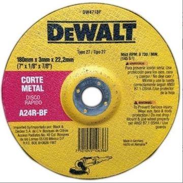 Imagen de Disco Dewalt cte metal centro depr. 180 x 3.2 x 22.2mm - Ynter Industrial