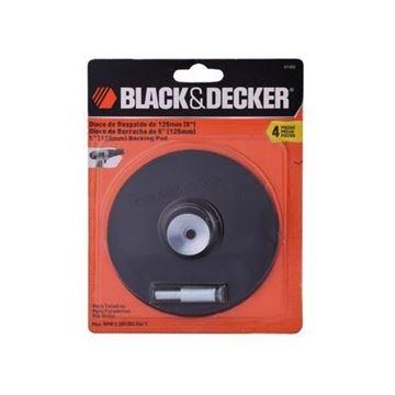 Imagen de Disco de goma Black & Decker p/taladro c/eje 125mm - Ynter Industrial