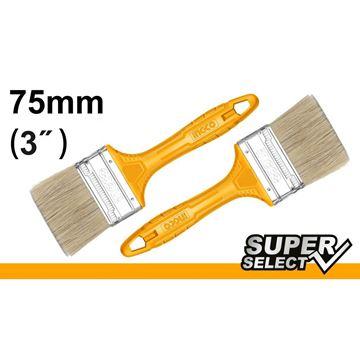 "Imagen de Pincel 3"" mango amarillo Super Select Ingco x 12 uni. - Ynter Industrial"