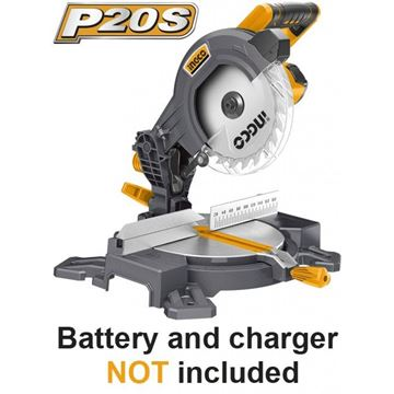 Imagen de Sierra ingletadora bat Litio 20V 210mm Ingco P20S - Ynter Industrial