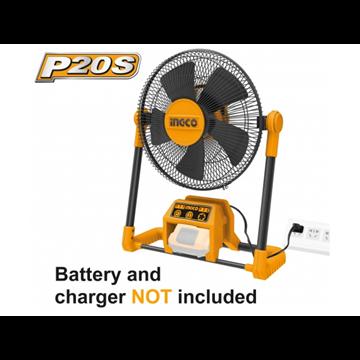 Imagen de Ventilador a batería 30cm a bat. de Litio 20V y 220V Ingco linea P20S - Ynter Industrial