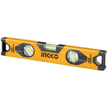 Imagen de Nivel aluminio 30cm amarillo Ingco- Ynter Industrial
