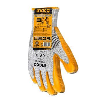 Imagen de Guantes amarillos resistentes a cortes Ingco - Ynter Industrial