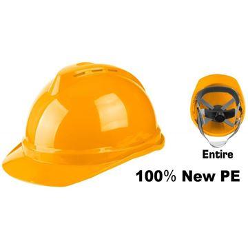 Imagen de Casco de seguridad Ingco amarillo carcasa PE - Ynter Industrial