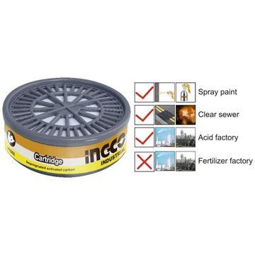 Imagen de Filtro multi gas p/mascara carbón activado Ingco  - Ynter Industrial