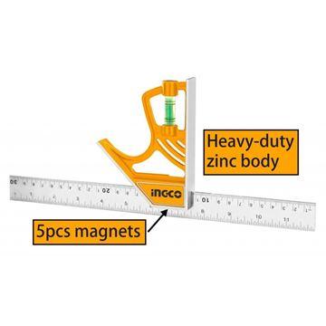 Imagen de Escuadra combinada magnética Ingco - Ynter Industrial