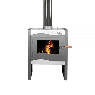 Imagen de Estufa calefactor Ñuke Wichi 60 plata  - Ynter Industrial