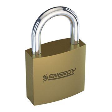 Imagen de Candado bronce Energy 38mm baño de bronce - Ynter Industrial