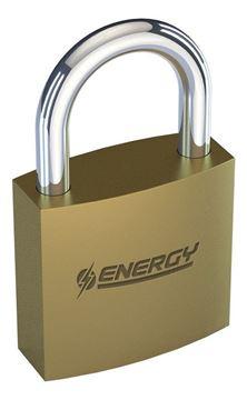 Imagen de Candado bronce Energy 75mm baño de bronce - Ynter Industrial