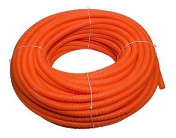Imagen de Caño corrugado elect. naranja 16mm rollo 50mts - Ynter Industrial