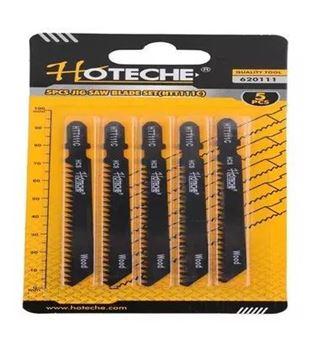 Imagen de Hojas sierra para calar madera 5 piezas Hoteche HTT111C - Ynter Industrial