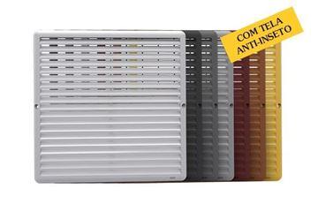 Imagen de Rejilla tapa para ventilación fija c/red anti insectos 19x19