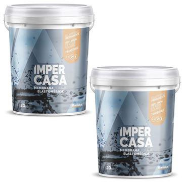 Imagen de Impercasa Membrana Líquida Blanca 2x18kg -Ynter